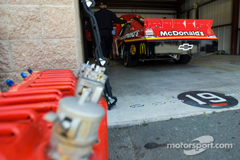 The McDonald's Chevrolet sits in the garage
