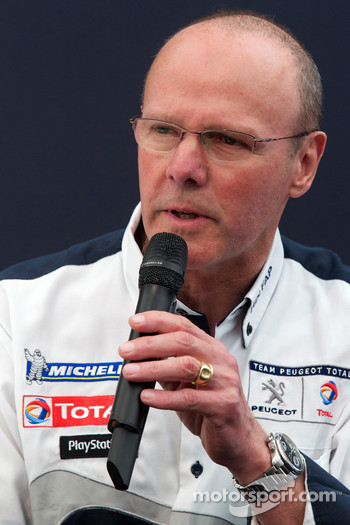 Team Peugeot press conference: Olivier Quesnel, Peugeot Sport director