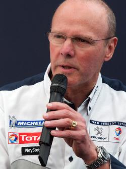Team Peugeot press conference: Olivier Quesnel, Peugeot Sport director