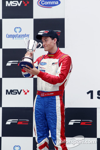 Podium: second place Jolyon Palmer