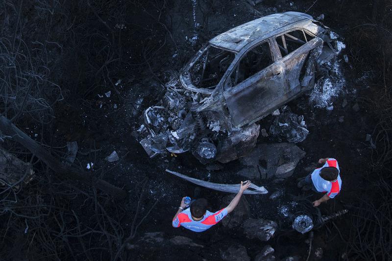 #7: Ausgebrannter Hyundai i20 (WRC)