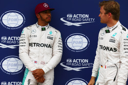 Pole for Lewis Hamilton, Mercedes AMG F1 W07 , 2nd for Nico Rosberg, Mercedes AMG Petronas