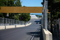 Baku City Circuit leading to turn 15