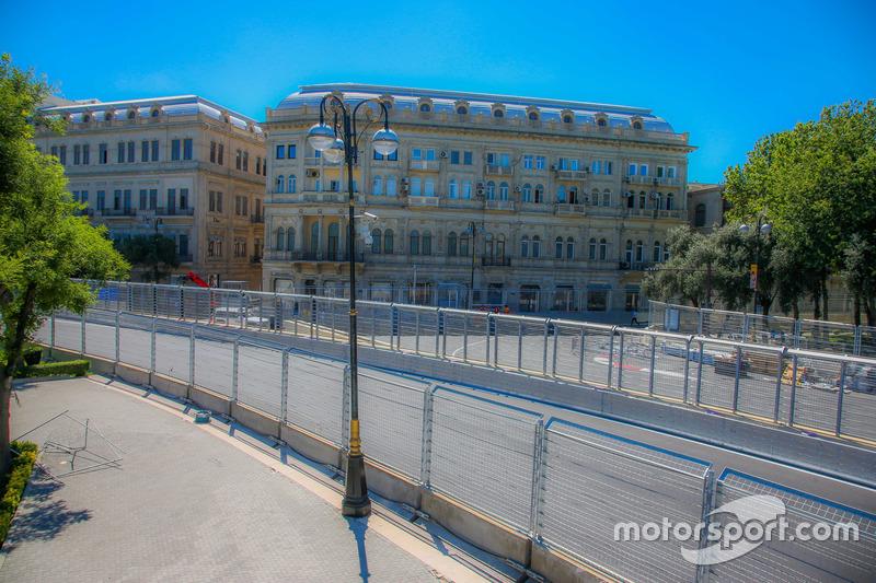 Baku city circuit at turn 7