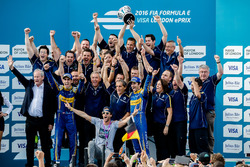 Nicolas Prost, Renault e.Dams and Sébastien Buemi, Renault e.Dams celebrate the drives and team championship
