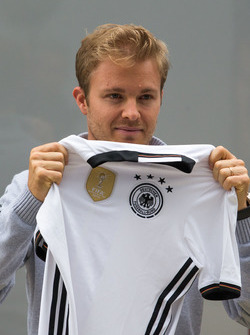 Nico Rosberg, Mercedes AMG F1 with a Germany football shirt