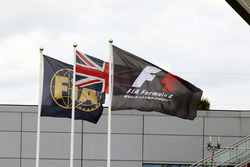 FIA, Union, and F1 flags