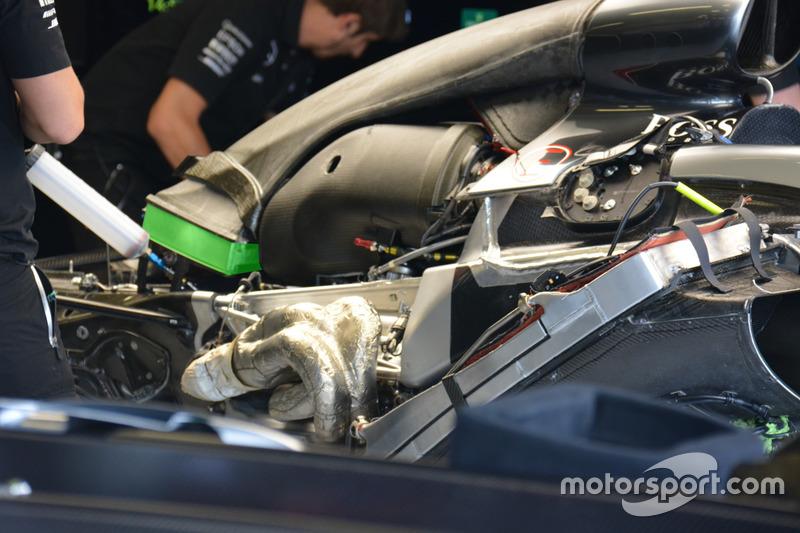 Mercedes F1 W07: Motorraum