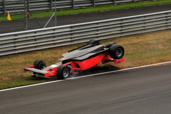 Philipp Eng rolls violently, Formula 2 Oschersleben 2009