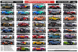 2010 Formula Drift Spotter Guide