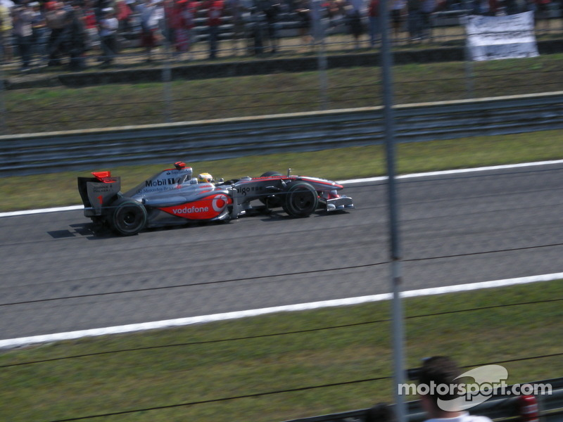 Lewis Hamilton with McLaren-Mercedes