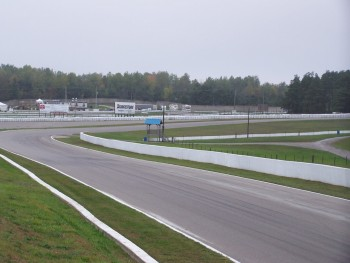 Andretti Straightaway Entering Turn 8