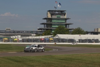 No. 44 Magnus Racing Porsche at the Indianapolis Motor Speedway (IMS)