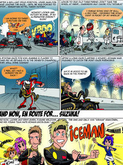 Lotus F1 Cartoon Singapore Grand Prix