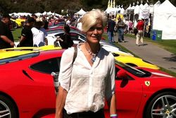 Racers Drive's Ellie Cesario at the Concorso Italiano