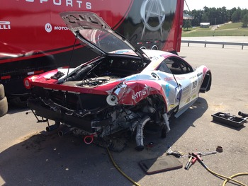Jim Weiland's Ferrari 458 Italia GT Post Friday Crash