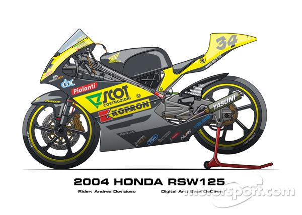 Honda RSW125 - 2004 Andrea Dovizioso