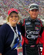 Kasey Kahne and me, AMS Sept. 2011