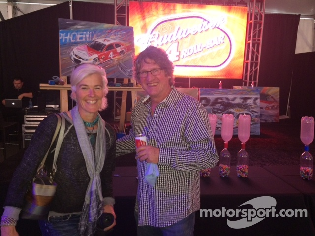 Ellie Cesario & NASCAR artist, Bill Patterson