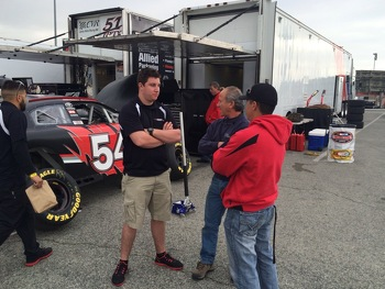 Anthony with engine tuner, Lee Schwartz & Crew Chief Mike Munoz