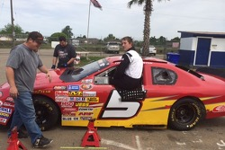 Cameron Millard gets ready to climb in and get started testing