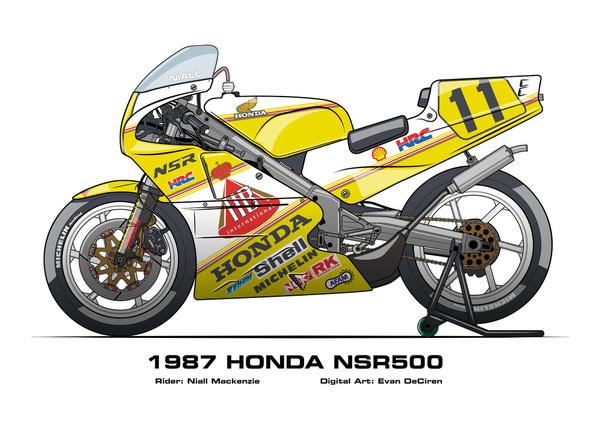 Honda NSR500 - 1987 Niall Mackenzie