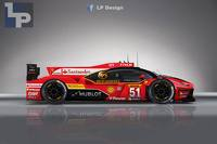 Rendering of a Ferrari LMP1 LaFerrari