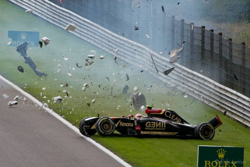Pastor Maldonado - crash