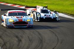 #95 Aston Martin Vantage V8 - Nygaard & Sørensen #18 Porsche 919 Hybrid - Dumas, Jani & Lieb