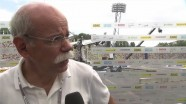 Interview with Dr. Dieter Zetsche at the Olympic stadium in Munich