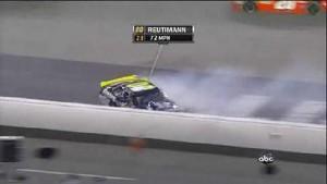 Reutimann Spins, Hits Wall - Bristol Motor Speedway 2011