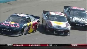 Ragan and Smith Into Wall - Phoenix International Raceway 2011