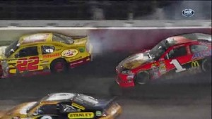 2 Cars Into the Wall - Bojangles' Southern 500 - Darlington 2012