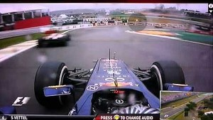 Vettel yellow flag passes at Brazilian GP 2012