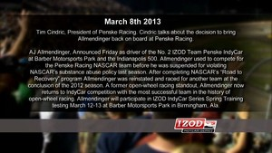 2013 IndyCar - AJ Allmendinger and Team Penske Announcement