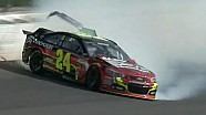 Jeff Gordon crashes in qualifying: Kansas