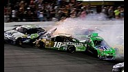 Danica Patrick and Kyle Busch POV During Final Lap Wreck