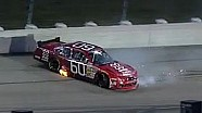 NASCAR Travis Pastrana's rear tire blows | Iowa (2013)
