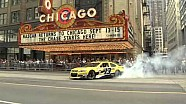 Dale Earnhardt Jr. doing donuts in downtown Chicago!