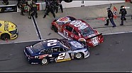 NASCAR Bristol | Keselowski and Reutimann Collide on Pit Road