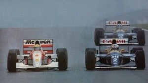 1993 European GP first laps with Ayrton Senna