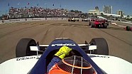 St. Pete Indy Lights 2014 start: Lloyd Read narowly misses a loose wheel