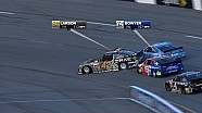 Clint Bowyer dumps polesitter Kyle Larson on race start - Richmond - 2014 NASCAR Sprint Cup