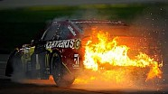 McMurray erupts in flames after tire issue