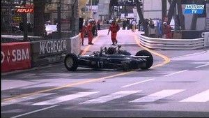 Historic Grand-Prix of Monaco : Ferioli crash