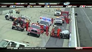 Huge Airborne crash to end race at Dover - 2011 NASCAR Nationwide