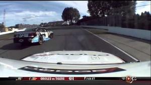 Jacques Villeneuve Wrecks Alex Tagliani - NASCAR Montreal 2012