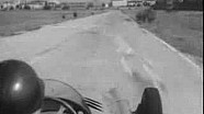Fangio drives the Maserati 250F in Modena, Italy in 1957