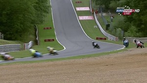 Josh Owens violent crash during Motostar race - Brands Hatch