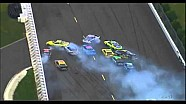Spectacular 13-car pileup at Pocono - NASCAR